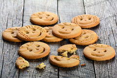 Childrens butter cookies Stock Images