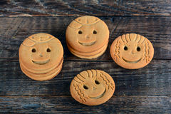 Childrens butter cookies Royalty Free Stock Photos
