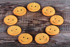 Childrens butter cookies. Selective focus Stock Image
