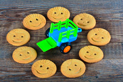 Childrens butter cookies. Selective focus Royalty Free Stock Photos