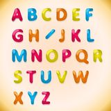 Children's candy alphabet Royalty Free Stock Image