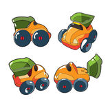 Children's car in the four angles. Royalty Free Stock Photography