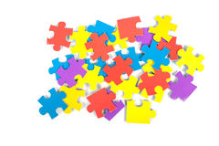 Children's cardboard puzzles Royalty Free Stock Photo