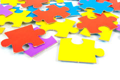 Children's cardboard puzzles Stock Photography