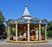 Carousel in Antibes, Cote d`azur, Provence; France royalty free stock photography