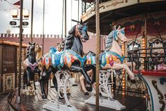 Free Children`s Carousel At The New Year`s Fair In Moscow Royalty Free Stock Photos - 161175268