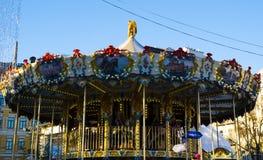 Children`s carousel royalty free stock photos