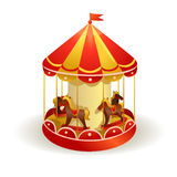 Childrens carousel with horses Stock Images