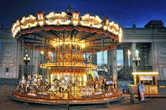 Children's Carousel at the Park of Culture. Royalty Free Stock Photo