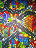 Children`s carpet with roads Big stock photography