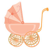 Children's carriage for the girl Royalty Free Stock Images