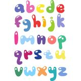 Children`s cartoon ABC for your design. Vector illustration. Alphabet Royalty Free Stock Images