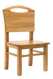 Wooden chair. Simple wooden kid desk chair Stock Photo