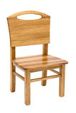 Wooden chair. Simple wooden kid desk chair Royalty Free Stock Photos