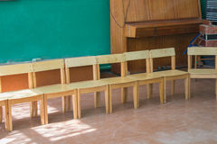Children's chairs in kindergarten Royalty Free Stock Photos