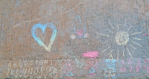 Children's Chalk Art Stock Photography