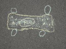 Children's chalk drawing on asphalt Royalty Free Stock Photos