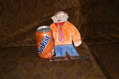 Flat Stanley With a Soda vector illustration