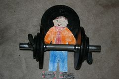 Flat Stanley Working Out stock illustration