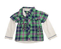 Children's checkered shirt. Stock Images