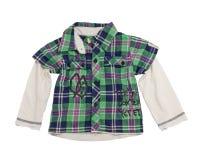 Children's checkered shirt. Stock Images