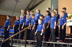 OR Children's Choir Boys Singers. The Oregon Children's Choir boys junior academy singers singing in the 2012 Holiday concert Stock Photography