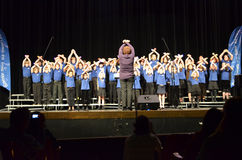 OR Children's Choir Singers. The Oregon Children's Choir Junior Academy Singers boys and girls singing in their 2012 finale concert Stock Photo
