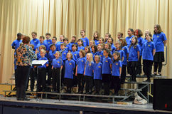 OR Children's Choir Spring Tour. The Oregon Children's Choir Junior Academy Singers boys and girls singing in their 2012 Spring Tour Royalty Free Stock Photo