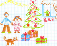 Children's christmas figure. Royalty Free Stock Images