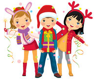 Children S Christmas Party A Surprise Stock Image