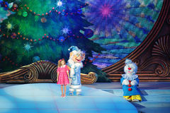Children's Christmas show Stock Images