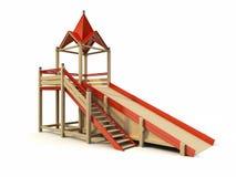 Children's chute. 3d rendering of the children's chute vector illustration