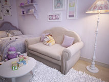 Children's classical style sofa Stock Image