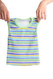 Children's clothes. Color children's clothes on boys on a white background Royalty Free Stock Image