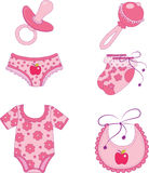 Children's clothes and accessories. Element for design  illustration Royalty Free Stock Photos