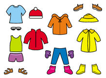 Children's clothes collection Stock Photo