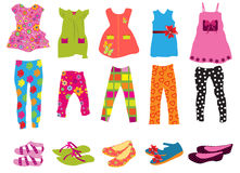 Children's clothes for women. Vector illustration of children's clothes for women Royalty Free Stock Image