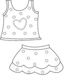 Children's clothing coloring page Royalty Free Stock Photos