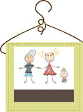 Childrens clothing logo stock illustration