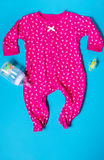 Children's clothing pajama sleeper for the baby royalty free stock image