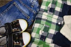 Children`s clothing set Stock Photos