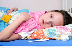 Children's colds Stock Images