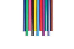 Children's color pencils isolated on white background. Children's color pencils isolated on white Stock Photo
