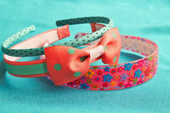 Children's colored head bands Stock Image
