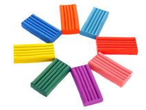 Children's colored plasticine. stock images