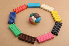Children`s Colored Plasticine. Stock Image