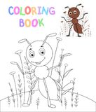 Children s coloring book with cartoon animals. Educational tasks for preschool children cute ant royalty free illustration