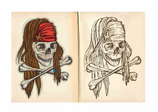 Children's coloring book - Skull Royalty Free Stock Image