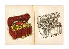 Children's coloring book - Treasure Stock Photography
