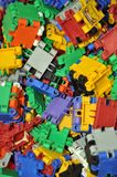 The children's colour plastic designer Stock Photo